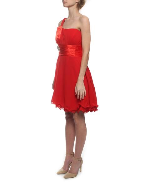 M51 Snow White Sparkle Waist One-Shoulder Cocktail Evening Dress – Red a3fc59fde