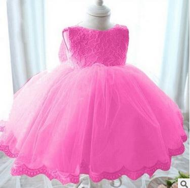 Princess Flowergirl Vintage Tutu Dress - Cerise Pink