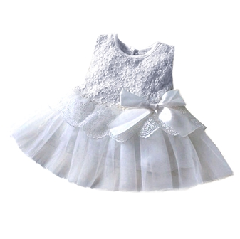 FG51 Babygirl Princess Flowergirl Dress - Grey
