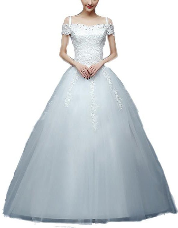 29-B001 Crystal Sweetheart Princess Wedding Gown – White | Snow ...
