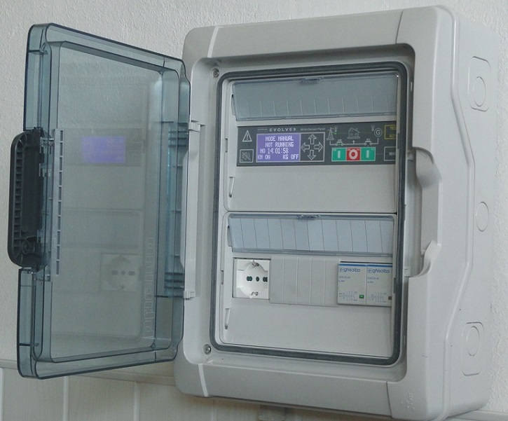 Engine Connections Of A Generator Control Panel Fitted With Bek3 Amf