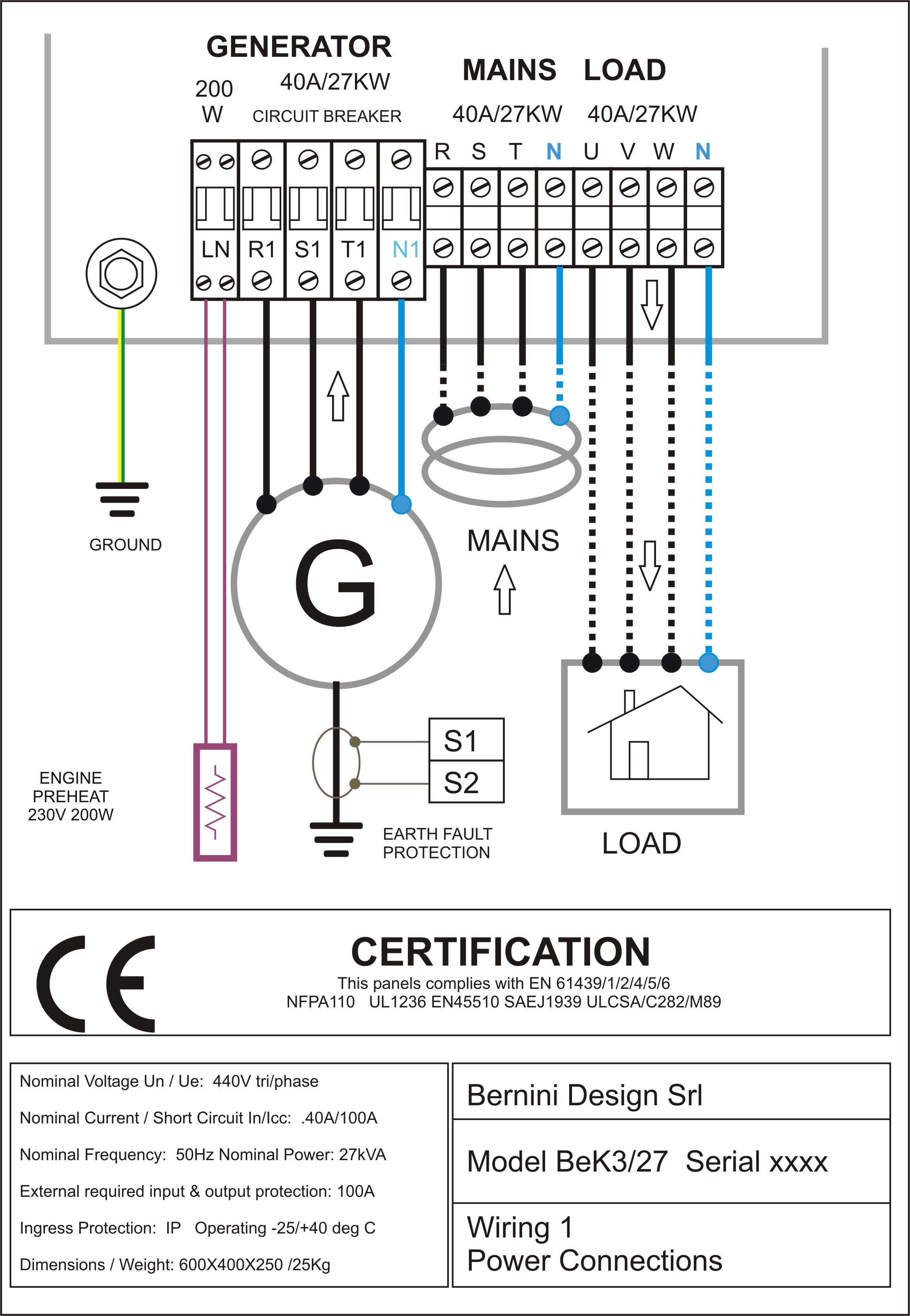 Diesel Generator Control Panel Wiring Diagram AC Connections1 automatic transfer switch wiring diagram free efcaviation com generac 200 amp transfer switch wiring diagram at bayanpartner.co