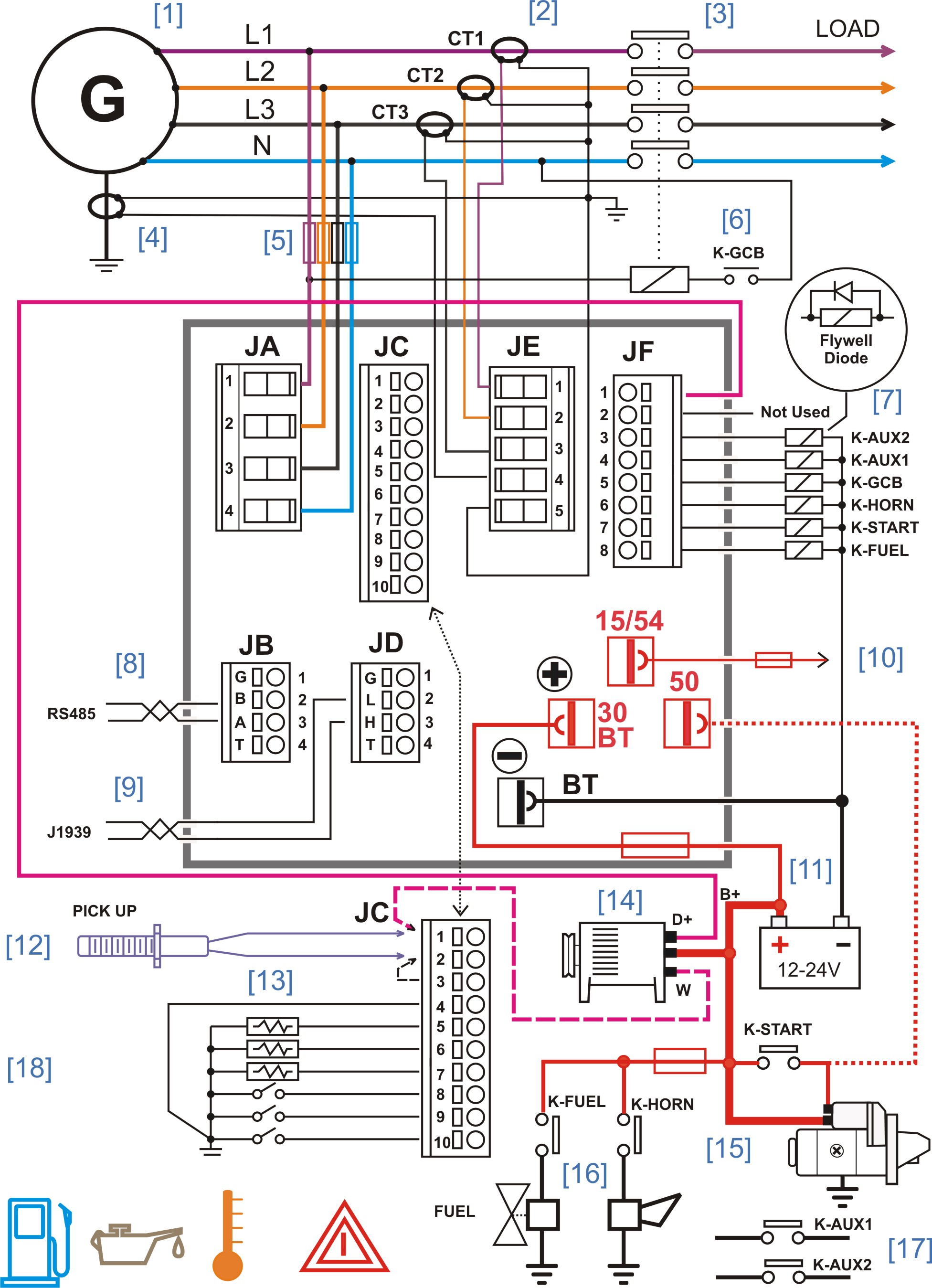 diagram motor control wiring dpdt toggle switch diesel generator panel  genset