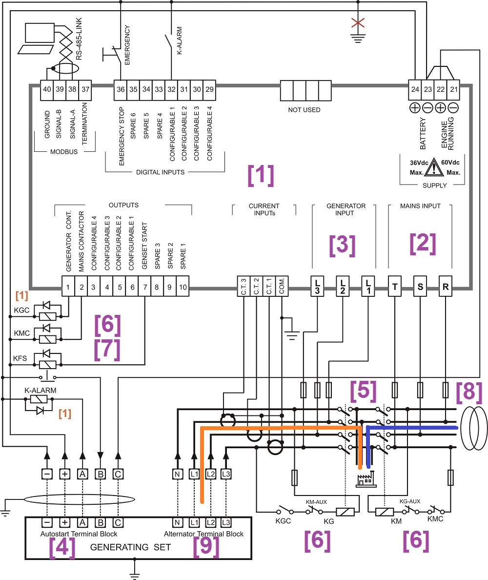 Automatic Generator Start Circuit Diagram