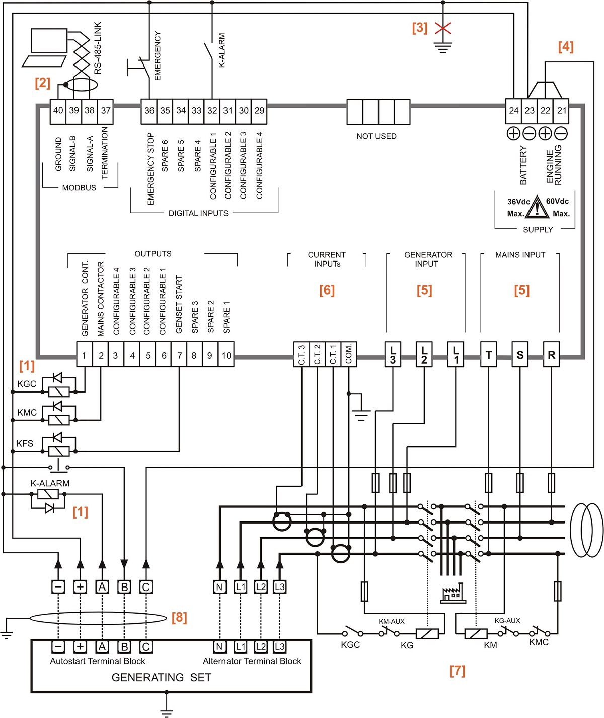 generator auto start wiring diagram 4 pin trailer flat automatic transfer switch circuit  genset controller