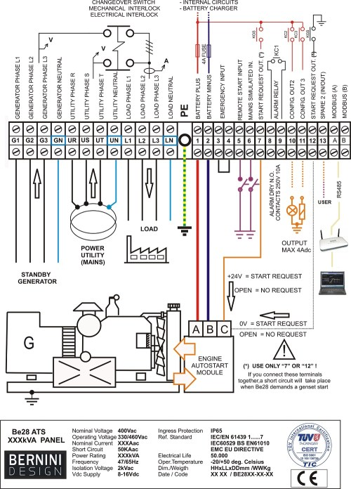 small resolution of automatic transfer switch typical wiring diagram