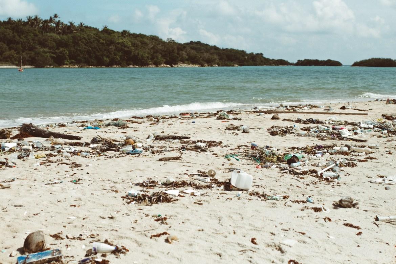 Müll der aus dem Meer angespült wird