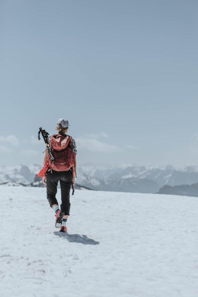 Schneefelder am Weg zum Hohen Zinken – BergeSeen Trail