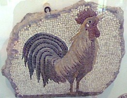 Mosaic of a cockerel