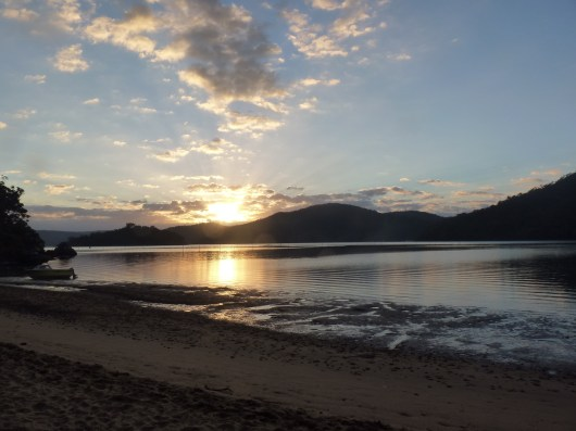 The view from Back Beaches back in Easter 2014- Bar Island just to the left of the sunrise
