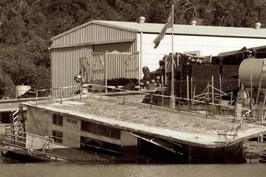 sunk houseboat sepia small