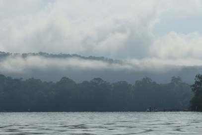 Milson Island in the mist