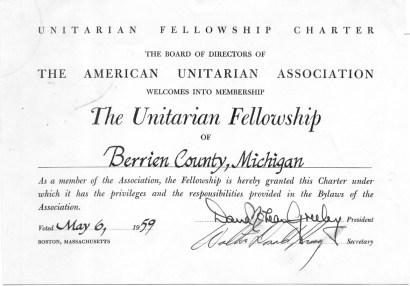 "Sunday Service: ""Celebrating 60 Years of Community"" @ Berrien Unitarian Universalist Fellowship"