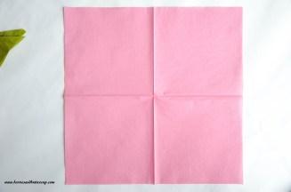 Servietten falten Kirschblüte DIY Anleitung Tischdeko (10)