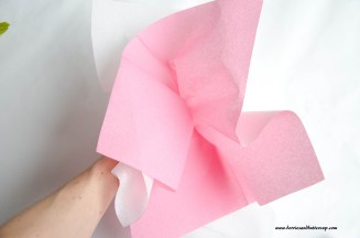 Servietten falten Kirschblüte DIY Anleitung Tischdeko (12)