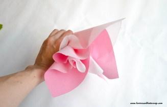 Servietten falten Kirschblüte DIY Anleitung Tischdeko (14)