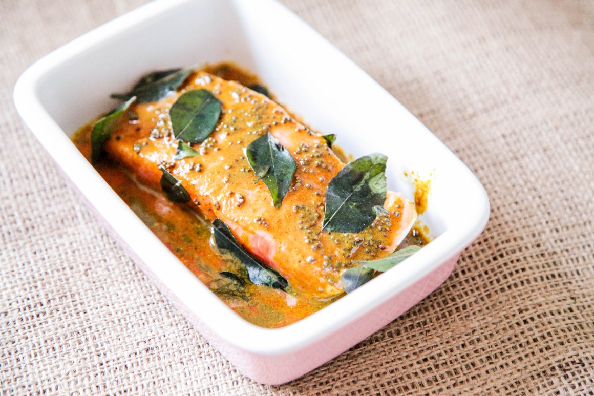 5 minute salmon sauce - Indian Style