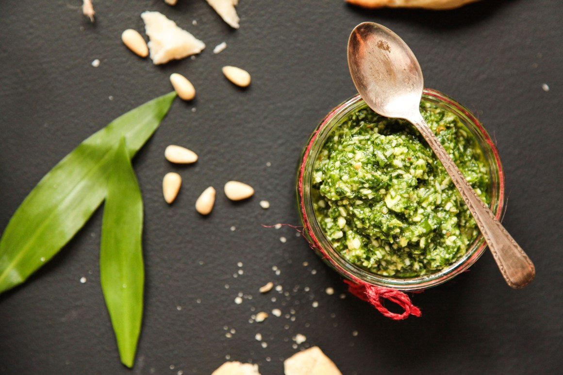 The Ultimate Wild Garlic Pesto Recipe with Mixed Nuts | Berries and Spice