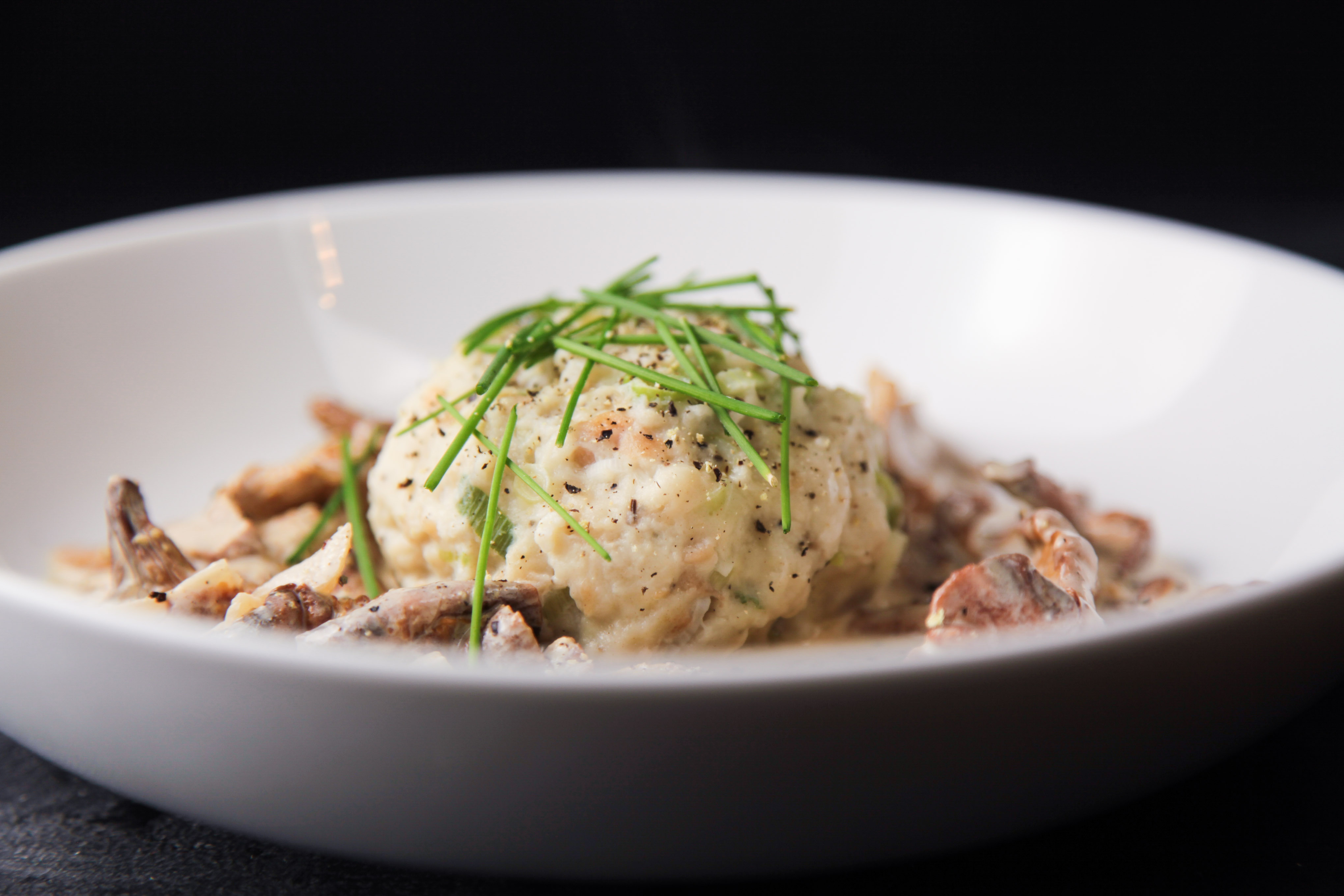 Creamed chanterelles with austrian bread dumplings berries and spice however the one thing i really didnt know about austrian food is their variety of dumplings kndel yeast dumplings bread dumplings semolina dumplings forumfinder Image collections