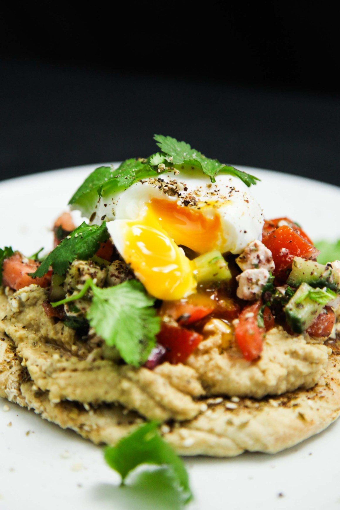 Easy Peasy Mediterranean Brunch with Hummus, Feta and Za'atar