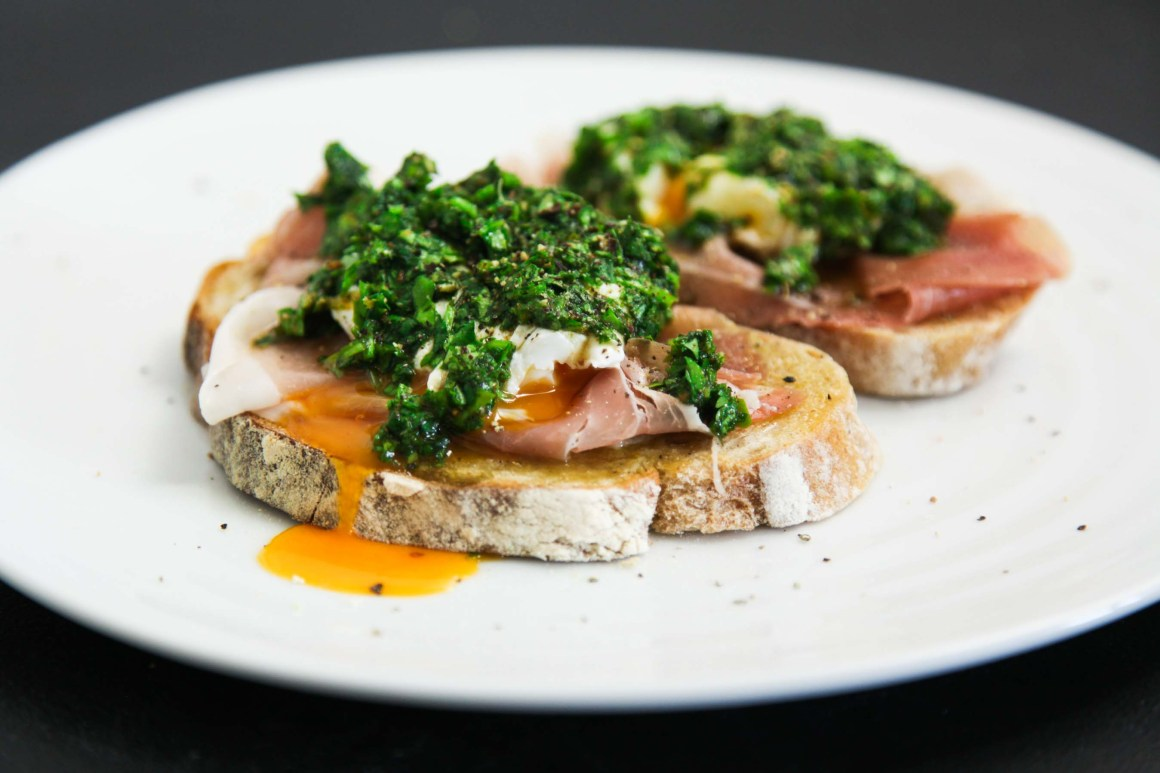 Exquisite and Simple Prosciutto Chimichurri Brunch Toast   Berries and Spice