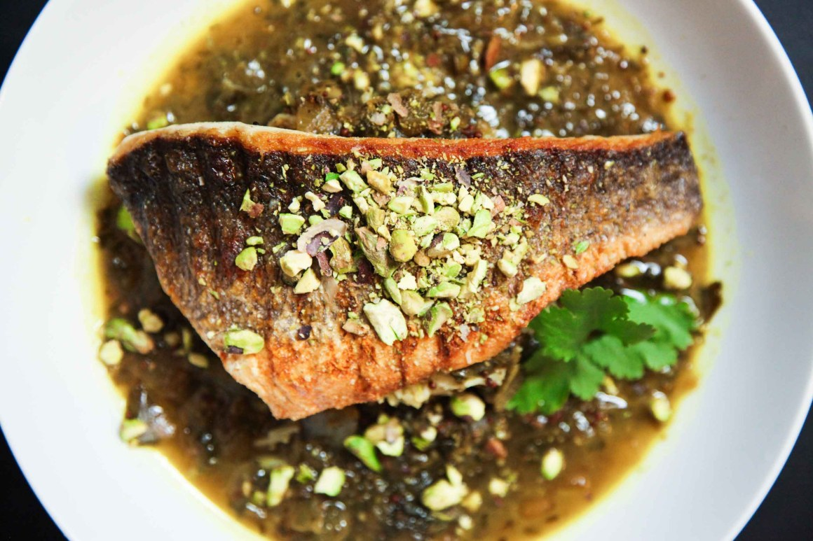 Super Quick and Easy Tangy Lemon and Coriander Sea Bass