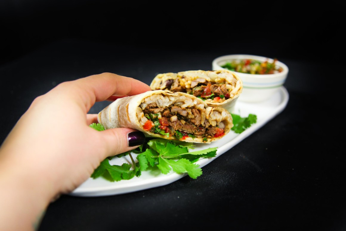 Easy, Delicious and Healthy Beef Burritos | Berries and Spice