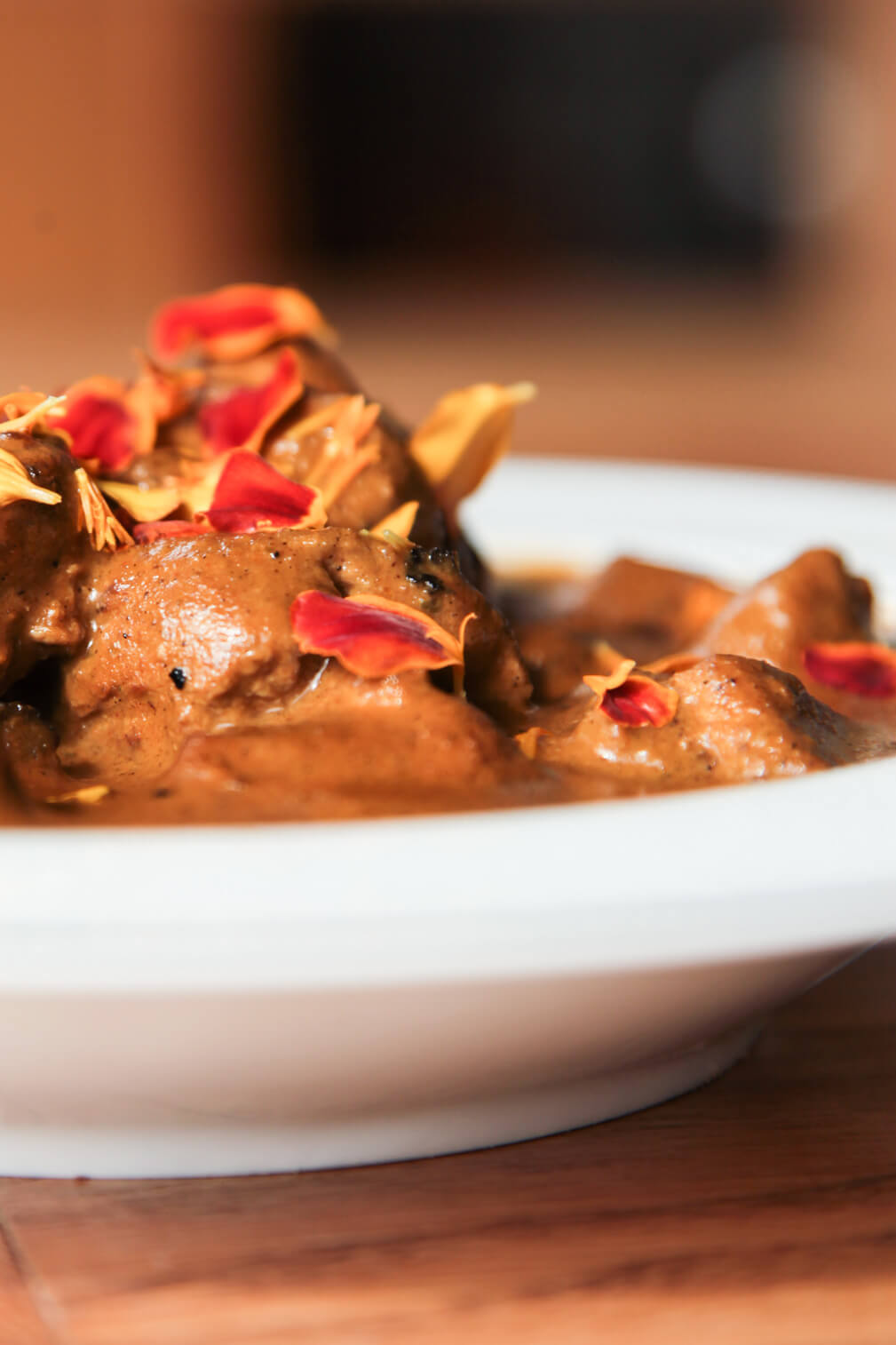 Fragrant and super creamy curry with pork skewers | Berries and Spice