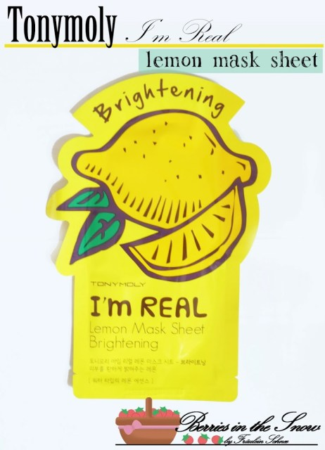 Tonymoly I'm Real Lemon Mask Sheet for Brightening