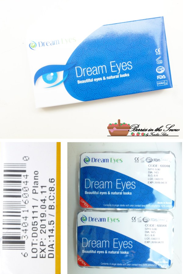 Dream Eye Black Snowflake Contact Lenses