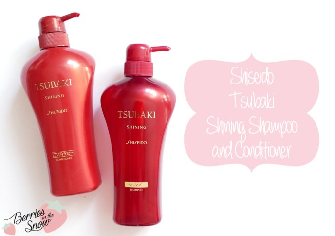 Shiseido Tsubaki Shampoo and Conditioner