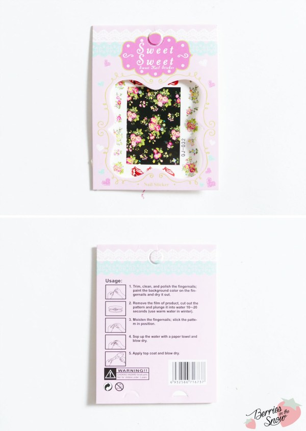 Flower Water Transfer Nail Stickers from Born Pretty Store