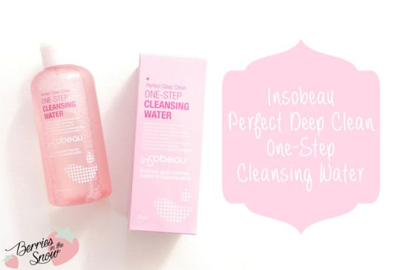 Insobeau Perfect Deep Clean One-Step Cleansing Water