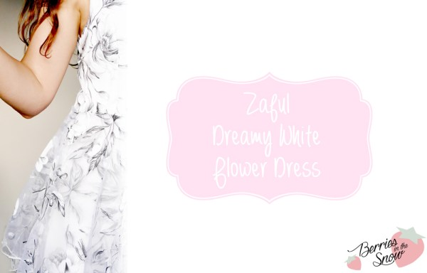 Zaful Dreamy White Flower Dress