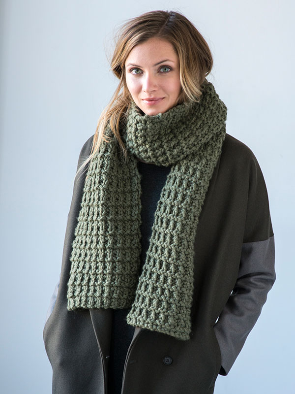 Giuoco scarf knitting pattern in Berroco Noble