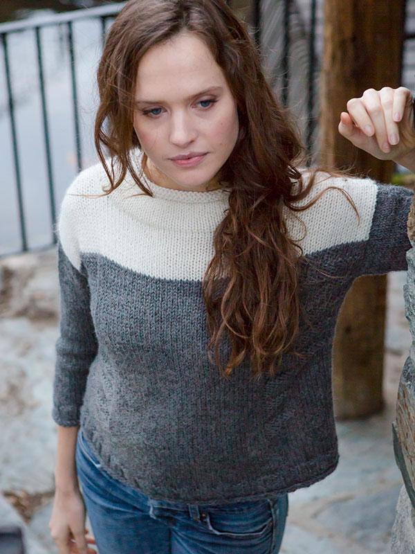 Banner sweater knitting pattern in Berroco Ultra Alpaca Chunky