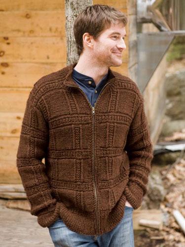 Jura men's sweater knitting pattern in Berroco Ultra Alpaca