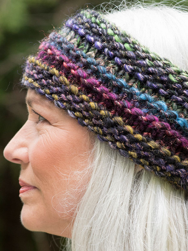 Quinoa headband knit in Berroco Brio