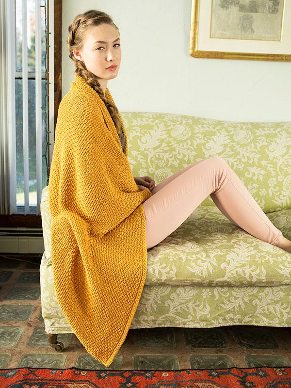Sigrid, a free knitting pattern, in Berroco Elba