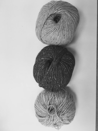 Sweet Briar, Cherries, Iris in Monochrome