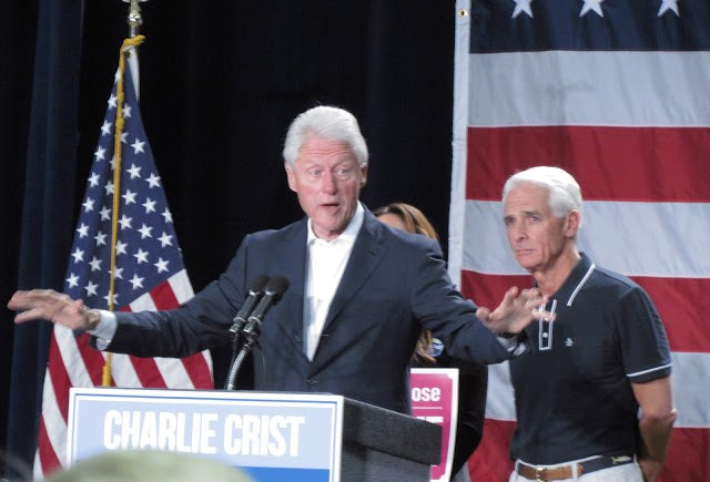 Bill Clinton at Charlie Crist Rally