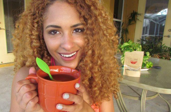 Curly Hair and Teami Skinny tea