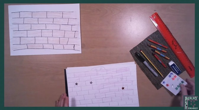 Art Time, Draw And Colour A Brick Wall
