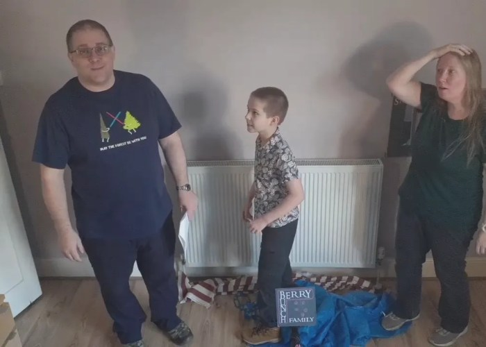 Story Time, with Jo Jo, Andy B, Peter and some bags: Jesus goes water walking