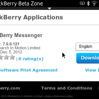 BlackBerry Messenger version 7.0.0.121 available for download in BlackBerry Beta Zone