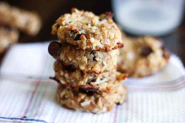 almond pulp cookie with coconut