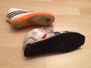 Luge shoe soles