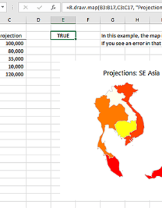 One chart type you can   normally draw in excel is  map using the maps package  makes this easy also bert graphics rh toolkit