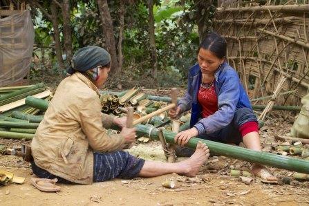 Bamboo zagen en klieven