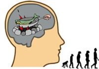 Cartoon of Brain Food and Human Evolution
